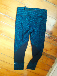 New Lululemon Pace Rival Crops Size 2