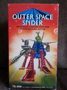 Vintage 80s Spider Robot,battery operated,complete in box