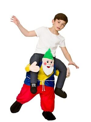 Shoulder Carry Me Piggy Back Ride On Fancy Dress Kids Funny Gnome Elf Costume (Piggy Back Elf Kostüm)