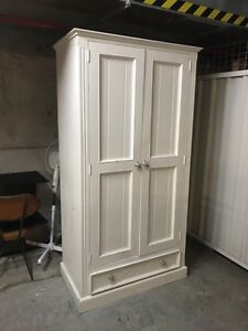 White wooden wardrobe Warriewood Pittwater Area Preview