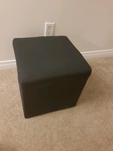 Durable Black Ottoman (Storage Stool) - Only 5 Months Old