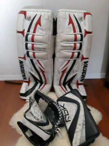30+1 goalie pads and int rbk glove and blocker