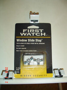 """5 """"FIRST WATCH"""" WING NUT SLIDING WINDOW SAFETY LOCK/STOPS #1410"""
