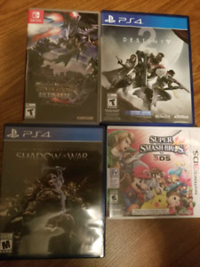 Switch, ps4, 3ds games