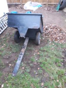 Tilting yard trailer