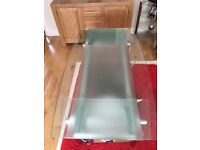 Glass dinning table without chairs