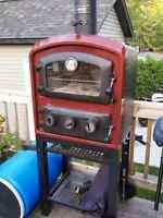 Four extérieur fumoir bbq au bois cuisinart outdoor oven neuf