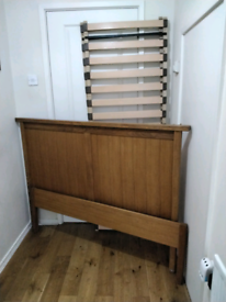 Stunning Solid Oak Double Bed From Next With Lamp & Side Table Can Del