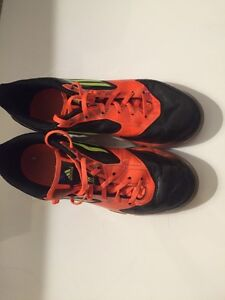 Adidas Orange and Black soccer cleats