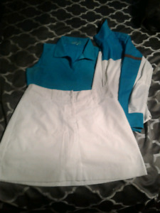 Nike Sz M golf outfit (top/skort/jacket)