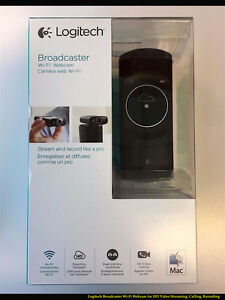Logitech Broadcaster Wi-Fi Webcam (MAC )