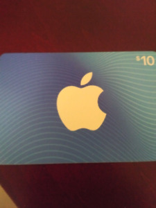 Trade only - $10 Apple / itunes gift card