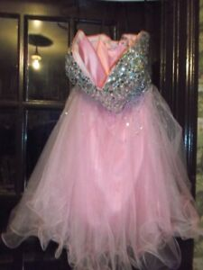 for sale  beautiful pink beaded dress