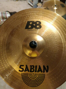 "Sabian 18"" Chinese cymbal with stand"