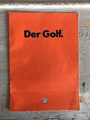 1981 VW Mk1 Golf C/CL/GTI Original Dealer Brochure/Catalogue German
