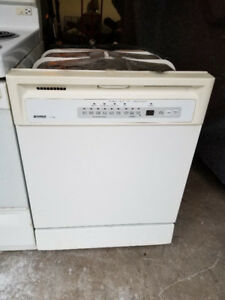 "Kenmore white 24"" under counter fully digital dishwasher"