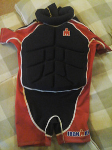 Ironman 1 Piece Buoyant Swimsuit - Size Small.  Fits 27-40 lbs