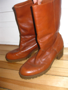 Vintage Bottes hiver automne/Fall Winter boots, 8 femme, cuir