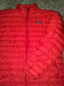 Patagonia down sweater jacket coat red