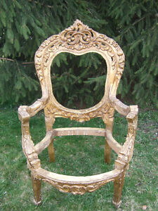 Antique Ornate Carved Kings Chair