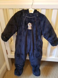Pram suit age 12 months baby, pram suit, snowsuit