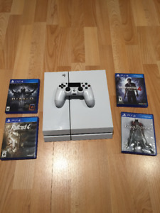 Playstation 4 console - White /  Destiny edition