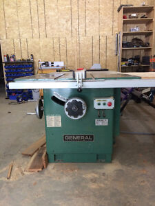 """12"""" General table saw with scoring blade. Good condition."""