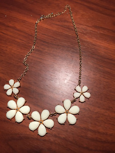 Flower necklace and a chain