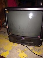 "Citizen 21"" tv with built in VCR"