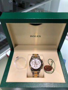 Rolex Daytona Cosmograph Two-Tone 18K YG, 40mm White Dial.