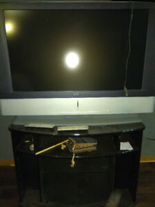 """42"""" rear projection lcd  + stand"""