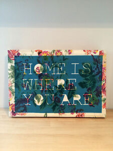 """Urban Outfitters """"Home"""" Quote Canvas Art Print Kingston Kingston Area image 3"""