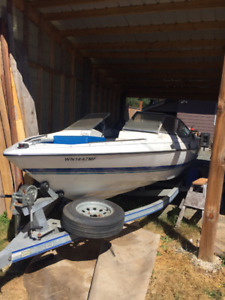 Excell Bowrider 18 ft boat with tower.