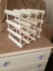 Stylish white wine rack
