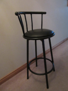 Black Metal Barstool