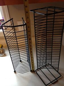 Two (2) Black Wire CD Holders