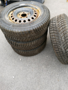 4x195/65R15 Continental Winter Contact on steel rims. 5x112 bp