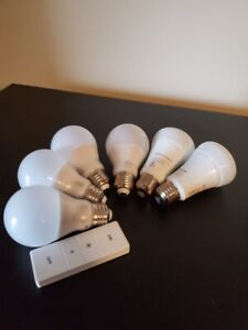 Phillips Hue Light Bulbs and Remote - 4 White / 2 White Ambiance