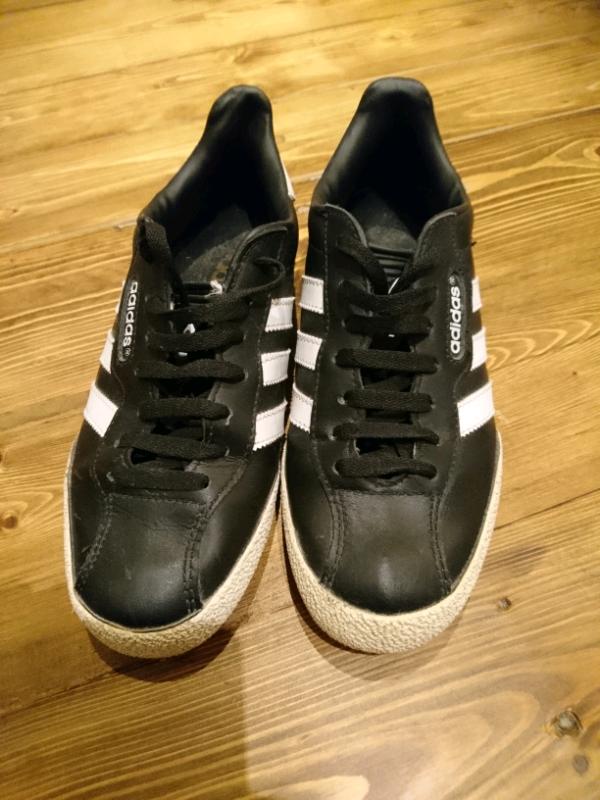 ADIDAS Originals 'Super Samba' BLACKWHITE Leather Trainers MENS Size UK 7