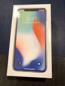 Brand new Iphone X 64G Silver unlocked