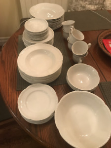 "Johnson Brothers ""Old English White"" dinnerware"
