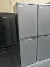 Indesit fridge freezer silver with warranty at Recyk