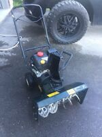 Snow blower almost new