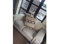 Fabric Cream Sofa
