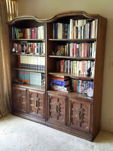 2 Solid Wood Bookcase Cabinets