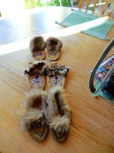 3 Pairs, Brand new beaded moccasins
