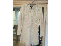 New with tags fringe hem tunic sweater size medium