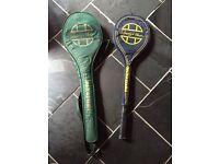 2 Jahangis Khan Squash Rackets & cases
