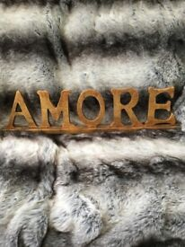 Large Wooden AMORE, ornament, sign decorative