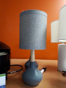SET OF 2 STACIA GRAY LAMPS
